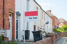 A terraced property for sale