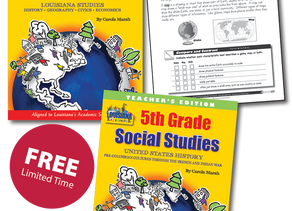 Gallopade Offers Free 3-5 Social Studies to the State of Louisiana for a Limited Time