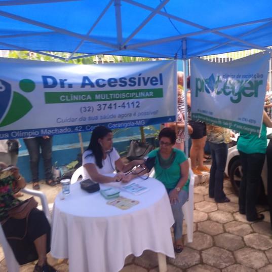 Ação da Clínica Dr. Acessível