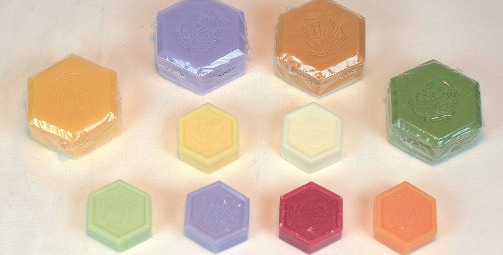 Savon végétal hexagonal