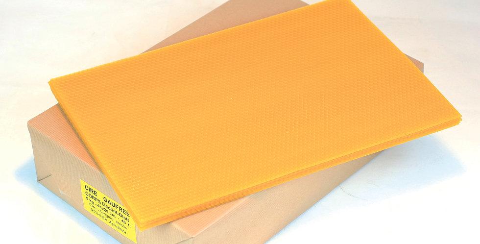 650.300 Cire à bougie gaufrée en plaque