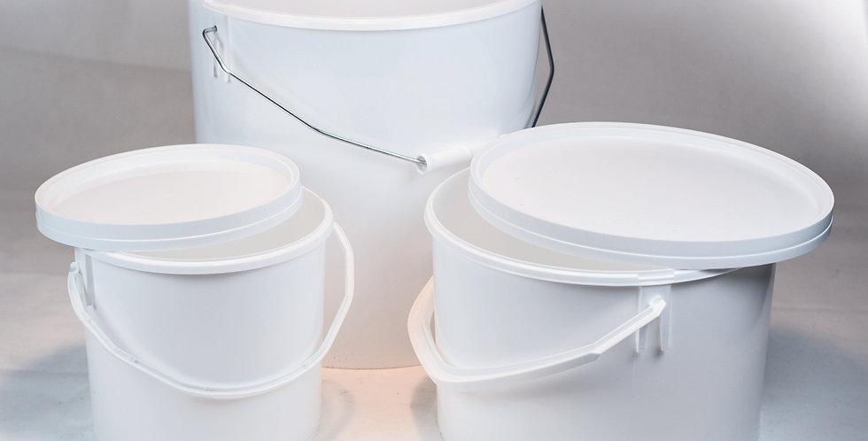 Bidons à miel en plastique alimentaire blanc