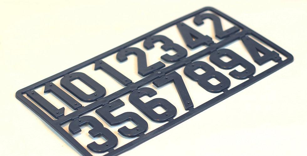 65.380 Chiffres en plastique gris foncé