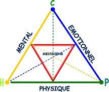 triangle d'équilibre pour une bonne santé