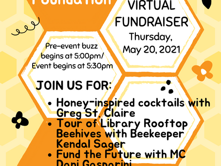 Celebrate World Bee Day at RCLF's Virtual Fundraiser on May 20, 2021!