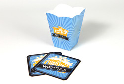 Popcorn Bucket and Coasters