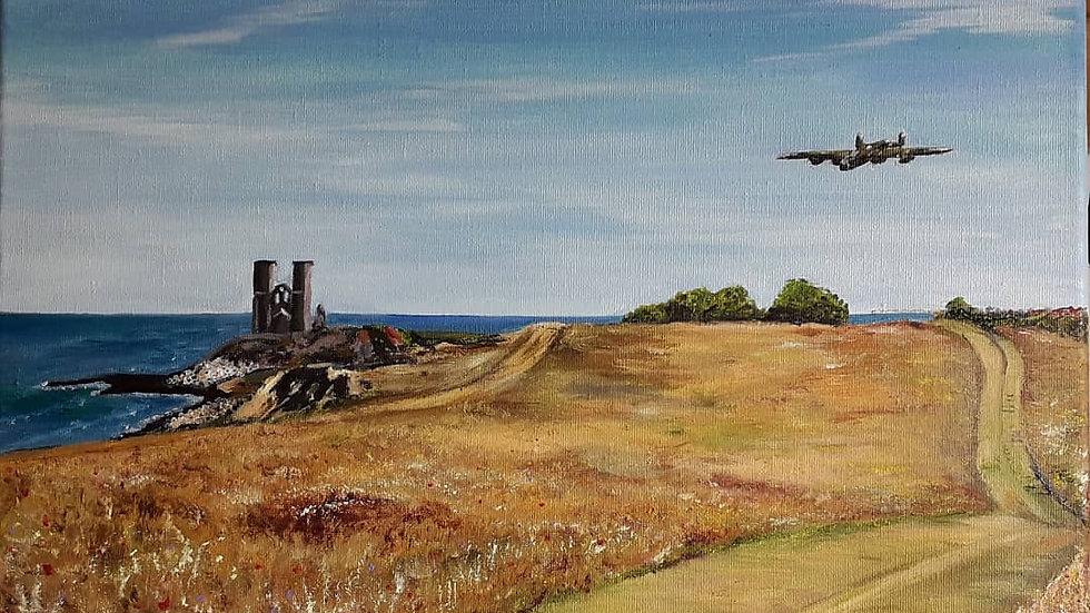 Lancaster over Reculver