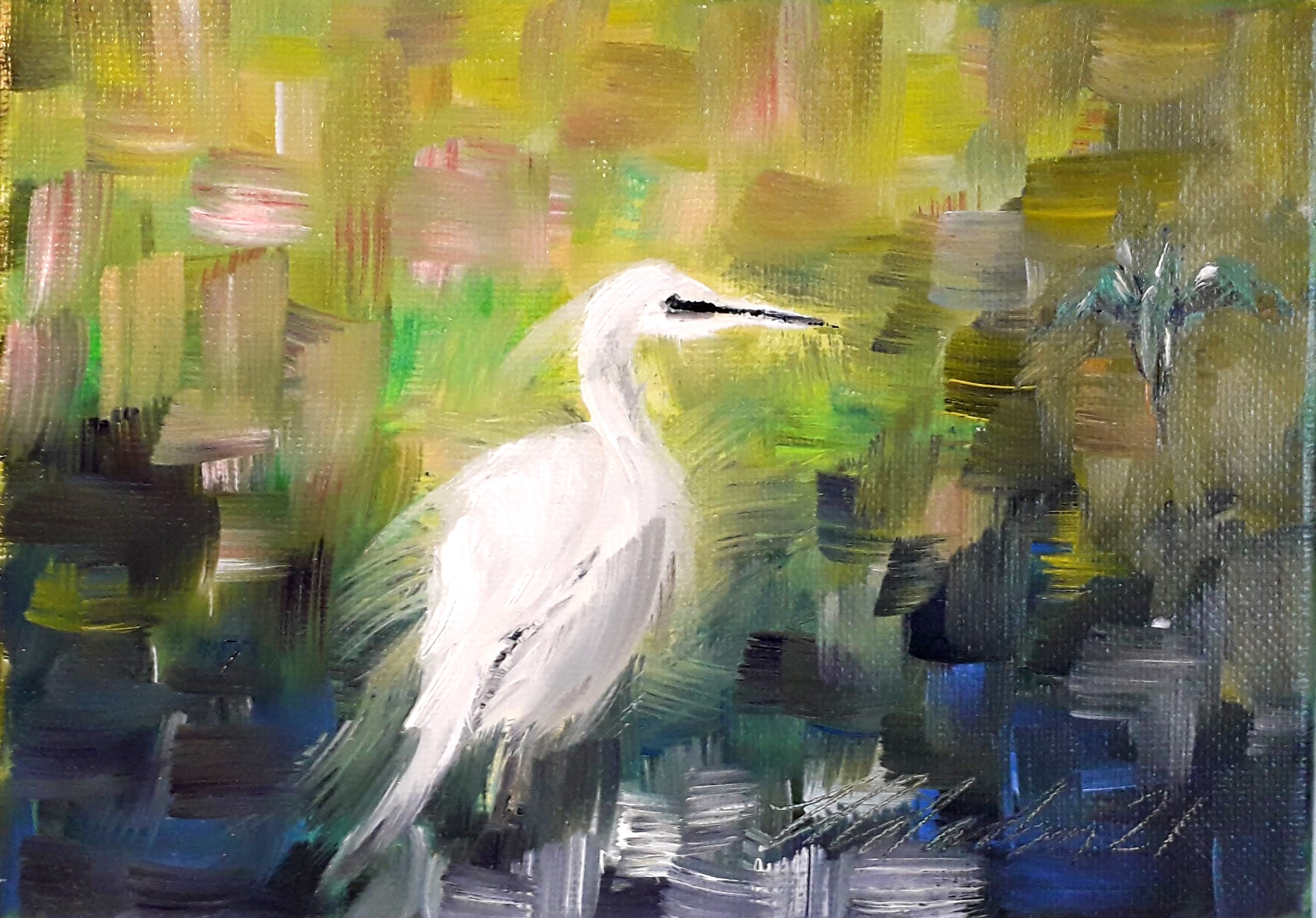 The Egret and Kingfisher