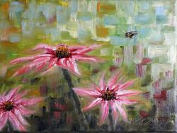 Bees and Echinacea III