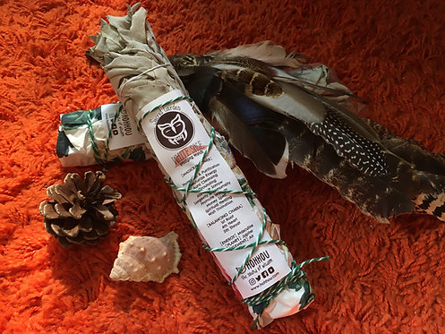 California White Sage Smudging Bundle 8-9""