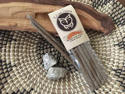 "Peruvian Copal Artisan Resin Incense Sticks 8"""