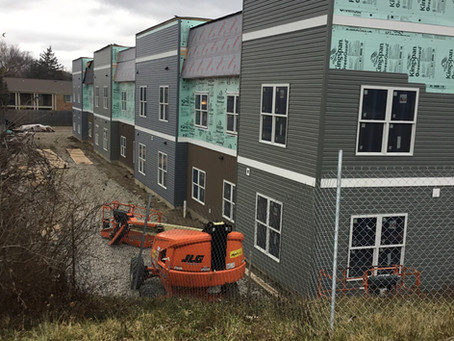 River's Edge Apartments - Fully Enclosed for the New Year