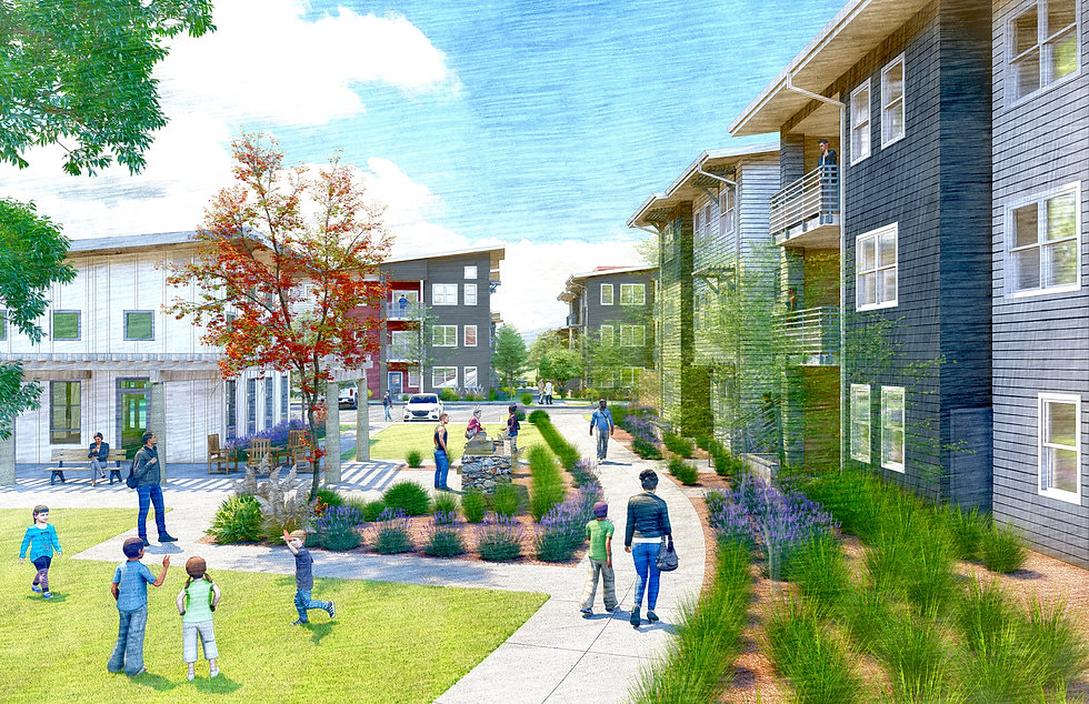 Mercy Village perspective - residential.