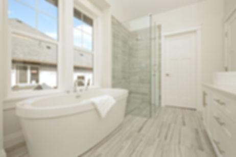 custom inteior designed ensuite free standing tub