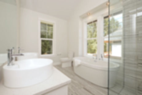 custom home interiors bathroom design skylight windows glass shower freestanding tub victoria bc
