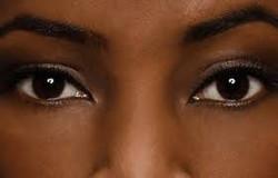 black eyes, black skin
