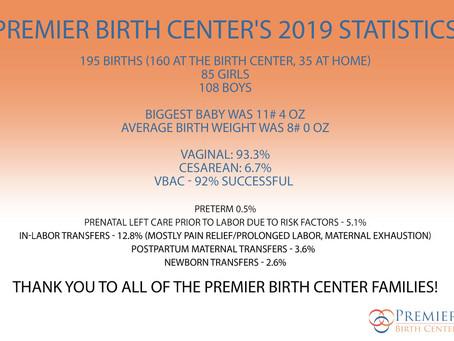 Premier Birth Center Stastics for 2019