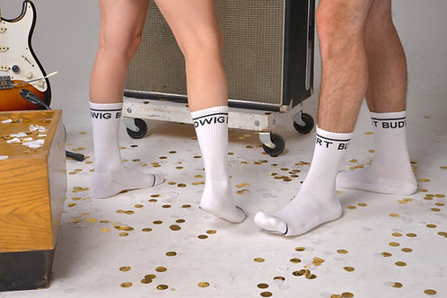 Bart Budwig Socks - White