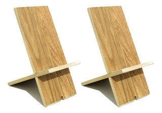 Soporte de madera para celulares