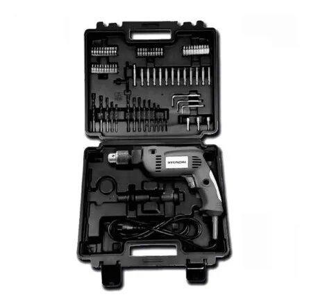 Taladro Percutor Hyundai 550w 13mm + Maletín + 72 Accesorios