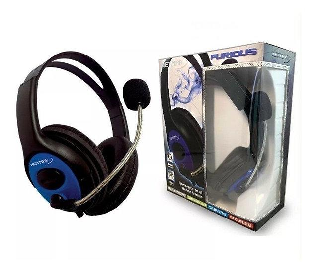 Auricular gamer  c/mic ps 4 Furious 3.5nm
