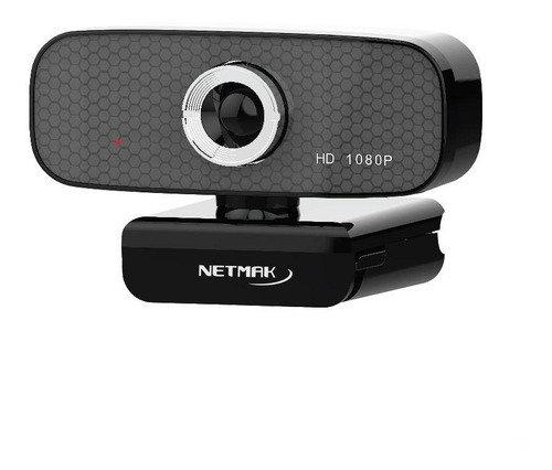Webcam 1080P C/Mic y Tripode Netmak NM-WEB03