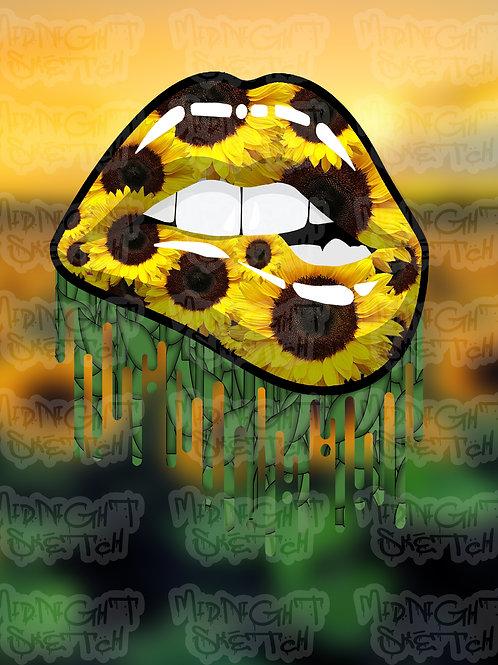 Sunflower Lips Canvas