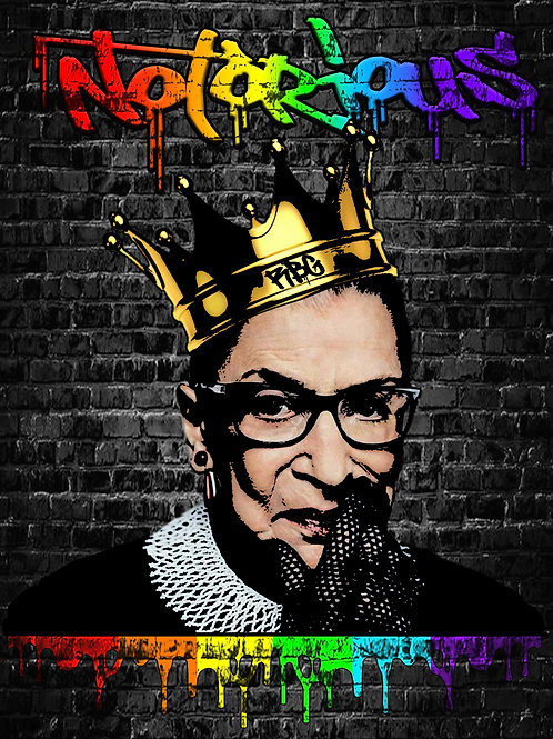 Notorious RBG Pride Canvas
