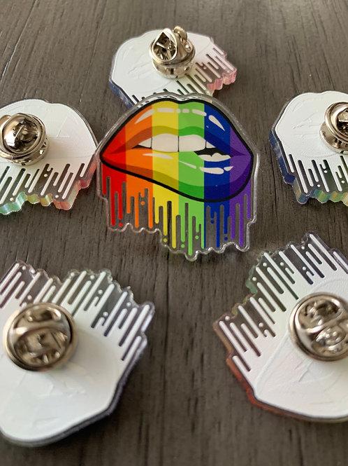 Rainbow Lip Pin