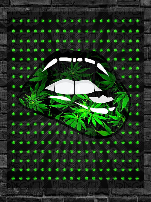 420 Lips Canvas