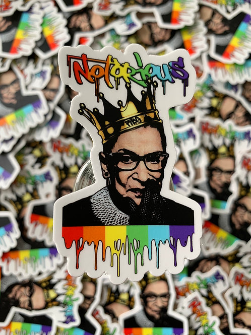 Notorious RBG Pride Sticker