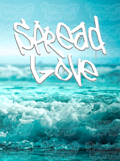 Spread Love Beach Vibes Canvas