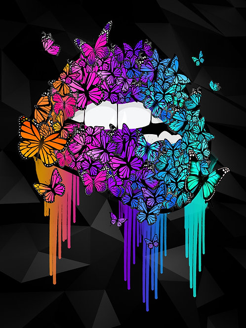 Butterfly Lips Canvas