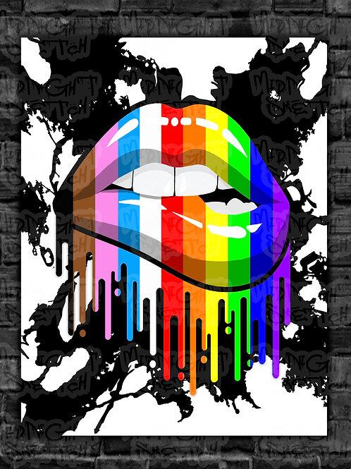 All The Pride Black Splash Prints
