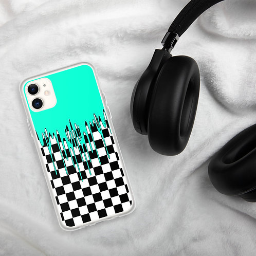 Mint Checkered iPhone Case