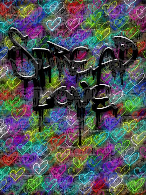 Spread Love Color Canvas
