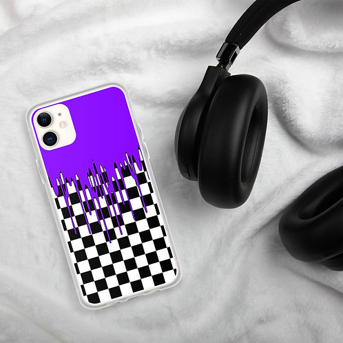 Purple Checkered iPhone Case