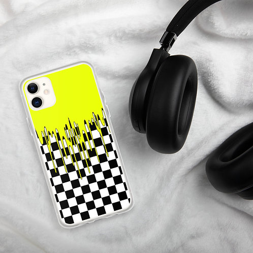 Yellow Checkered iPhone Case