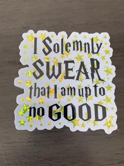 Solemnly Swear Glitter Sticker