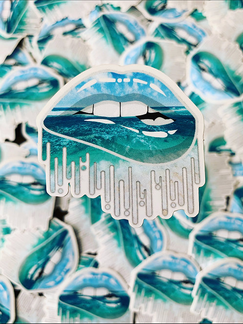 Beach Vibes Lip Sticker