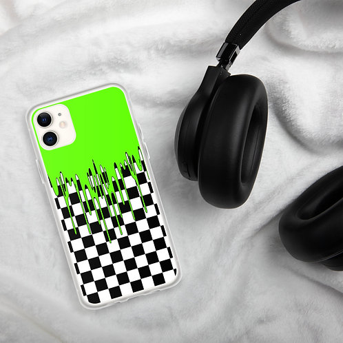 Green Checkered iPhone Case