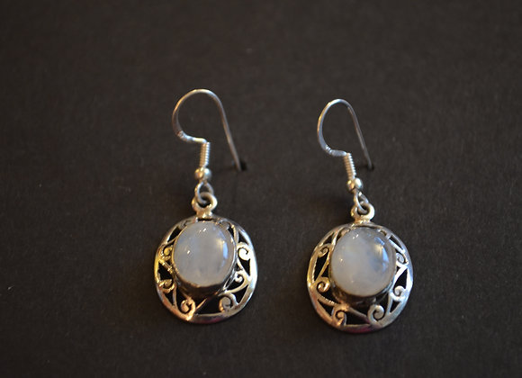Sterling Silver- India Rainbow Moonstone