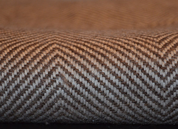 Chocolate Brown and Ivory Cashmere Blanket
