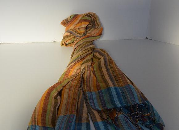 Cotton Striped scarf- India