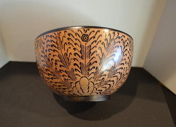 Wood Batik Bowl- Bali