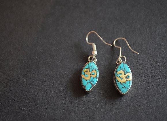 Tibetan  Turquoise Earring
