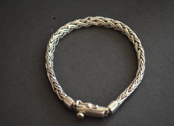 Sterling Silver  Rope Pattern Bracelet
