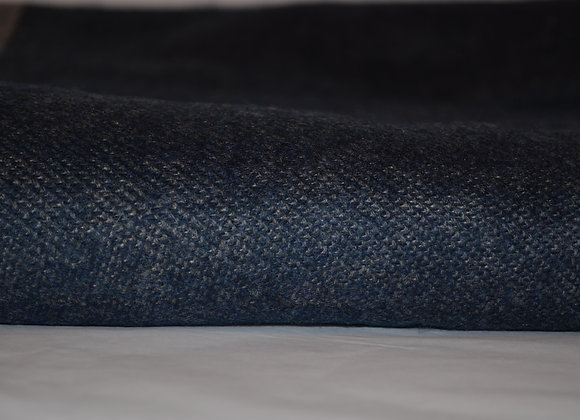 Blue and Light Gray  Reversible Cashmere Blanket/Throw