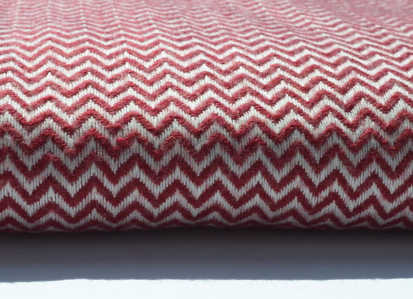 Cranberry and  Oyster Cashmere Blanket/Throw