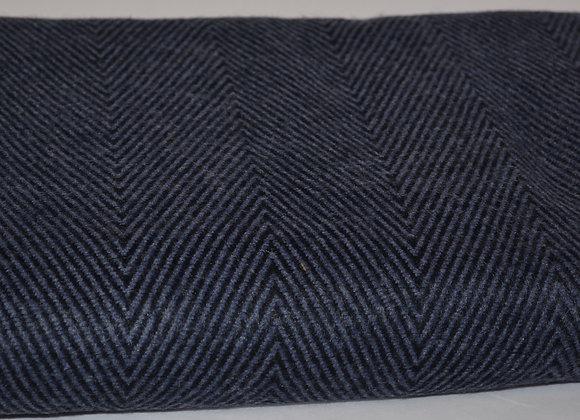 Navy on Deep Blue Cashmere Blanket/Throw